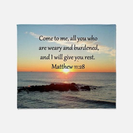 MATTHEW 11:28 Throw Blanket