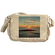 MATTHEW 11:28 Messenger Bag