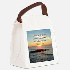 MATTHEW 11:28 Canvas Lunch Bag