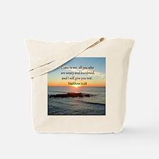 MATTHEW 11:28 Tote Bag