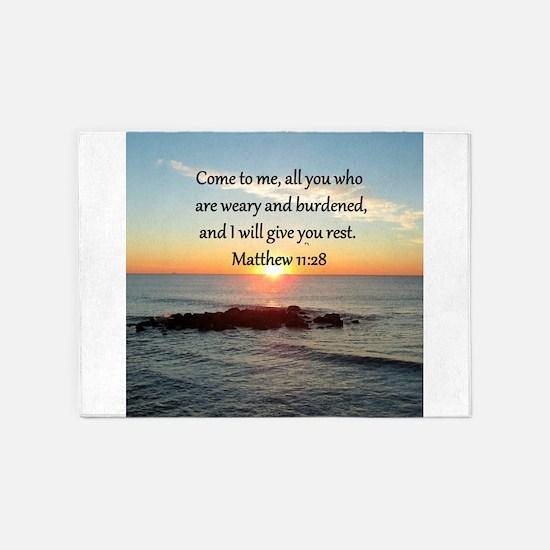 MATTHEW 11:28 5'x7'Area Rug