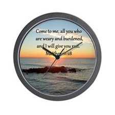 MATTHEW 11:28 Wall Clock