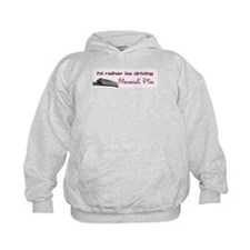 """""""I'd rather be driving Monorail Pink"""" Hoodie"""