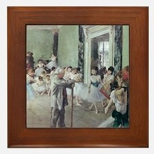 Painting by Degas, dancing class, 1834 Framed Tile