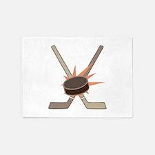 Hockey Puck 5'x7'Area Rug