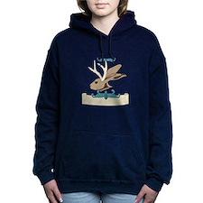 Jackalope Head Women's Hooded Sweatshirt