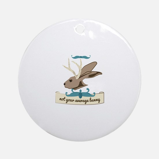Not your Average Bunny Ornament (Round)