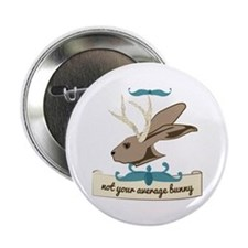"Not your Average Bunny 2.25"" Button"