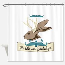 The Elusive Jackalope Shower Curtain