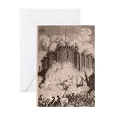 French Revolution, Storming the Bast Greeting Card