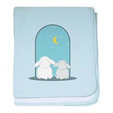 Bunny Night baby blanket