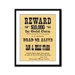 Wanted Sam & Belle Starr Framed Panel Print