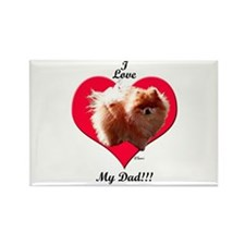 Pomeranian Father's Day Rectangle Magnet