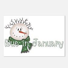 Snowman Head Postcards (Package of 8)