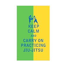 Keep Calm and Carry On Practicing Jiu Jitsu Sticke