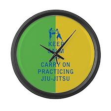 Keep Calm and Carry On Practicing Jiu Jitsu Large
