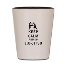 Keep Calm and Do Jiu-Jitsu Shot Glass