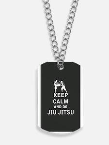 Keep Calm and Do Jiu-Jitsu Dog Tags