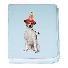 Jack Russell Terrier Birthday baby blanket