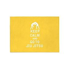 Keep Calm and Go To Jiu Jitsu 5'x7'Area Rug