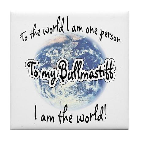 Bullmastiff World2 Tile Coaster