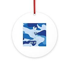 Keep Calm and Learn Jiu Jitsu Ornament (Round)