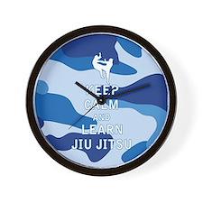 Keep Calm and Learn Jiu Jitsu Wall Clock