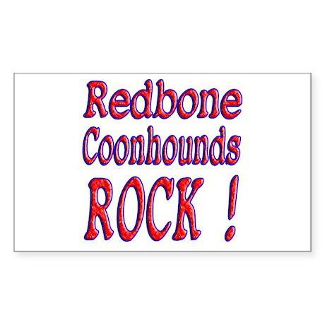 Redbone Coonhounds Rectangle Sticker