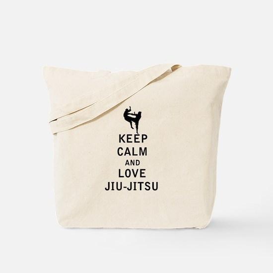 Keep Calm and Love Jiu Jitsu Tote Bag