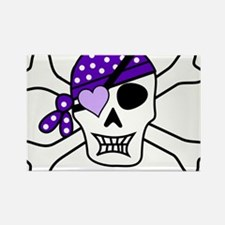Purple Pirate Crossbones Magnets