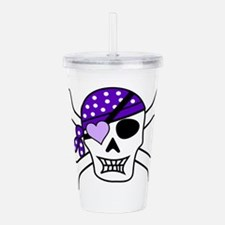 Purple Pirate Crossbones Acrylic Double-wall Tumbl