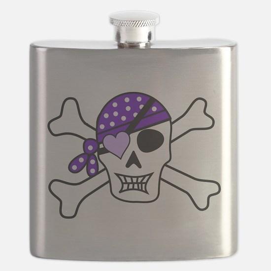 Purple Pirate Crossbones Flask