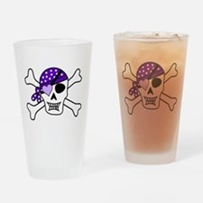 Purple Pirate Crossbones Drinking Glass