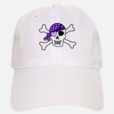 Purple Pirate Crossbones Baseball Baseball Baseball Cap