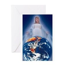 queen of world Oval Greeting Cards