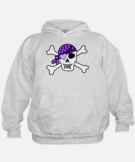 Purple Pirate Crossbones Hoodie