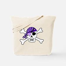 Purple Pirate Crossbones Tote Bag
