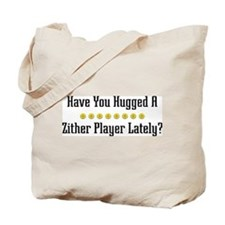 Hugged Zither Player Tote Bag