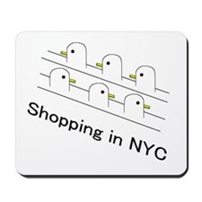 Shopping in NYC Mousepad
