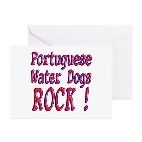 Portuguese Water Dogs Greeting Cards (Pk of 10