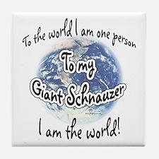 Giant Schnauzer World2 Tile Coaster