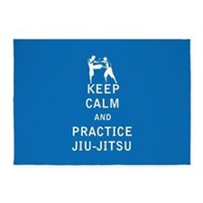 Keep Calm and Practice Jiu Jitsu 5'x7'Area Rug