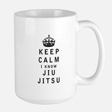 Keep Calm I Know Jiu-Jitsu Mugs