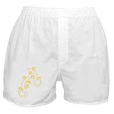 Zwei Geckos gelb Boxer Shorts