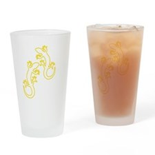 Zwei Geckos gelb Drinking Glass