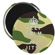 Keep Calm I Know Jiu-Jitsu Magnets