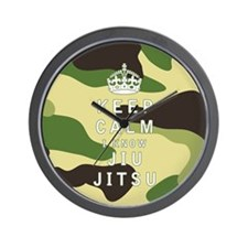 Keep Calm I Know Jiu-Jitsu Wall Clock
