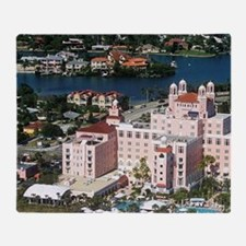 Aerial view of the Don Cesar Resort, Throw Blanket