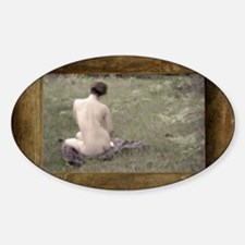 Nude Woman Outdoors Decal