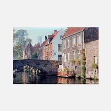 Bruges canal scene, BELGIUM. Rectangle Magnet